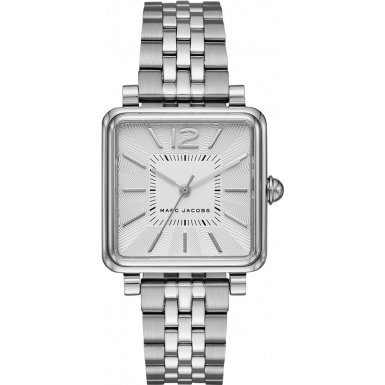 Marc Jacobs Women's Quartz Watch with Silver Dial Analogue Display and Silver Stainless Steel Bangle MJ3461