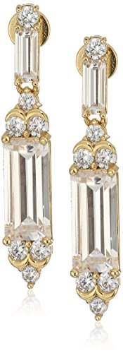 nicole-miller-modern-baguette-gold-drop-earrings