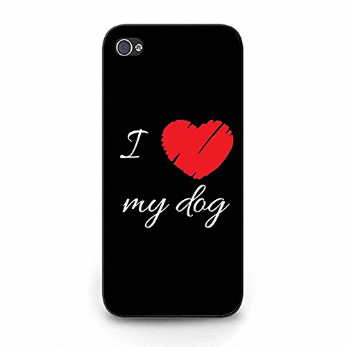 Iphone 5/5s Case,Fancy Dream I Love My Dog Phone Case Cover for Iphone 5/5s Animal Dog Shell Cover Color129d