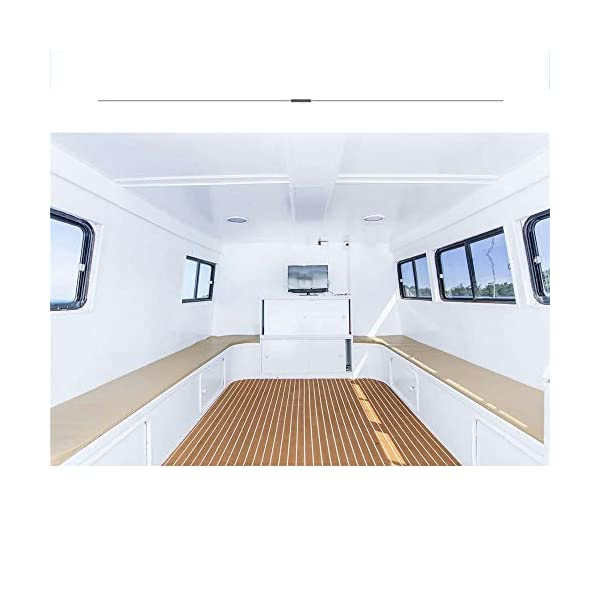 yuanjiasheng 90×240cm EVA Synthetic Boat Decking Sheet Yacht Marine Flooring Anti Slip Carpet With Backing Adhesive,Bevel Edge 5