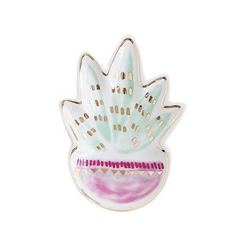 WPYAV Keramik Sukkulente Schmuckschale Schmuck Display Schale Ohrringe Ringe Halter Teller Hochzeit Weihnachten Dessert Dekoration Tablett