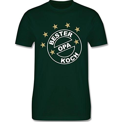 Küche - Bester Koch Opa - Herren Premium T-Shirt Dunkelgrün
