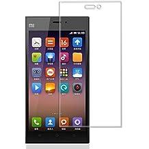 Protector de pantalla Cristal templado para Xiaomi MI3 Calidad HD, Grosor 0,3mm, Bordes redondeados 2,5D, alta resistencia a golpes 9H. No deja burbujas en la colocación (Incluye instrucciones y soporte en Español)