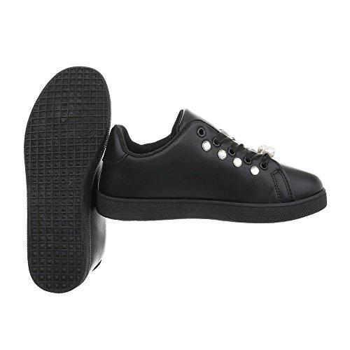 Basse Scarpe Basse Ital design 109 Donna Nere Sneakers Scarpe Da Sneakers Basse Sneakers Fbk Casual HRxtwF