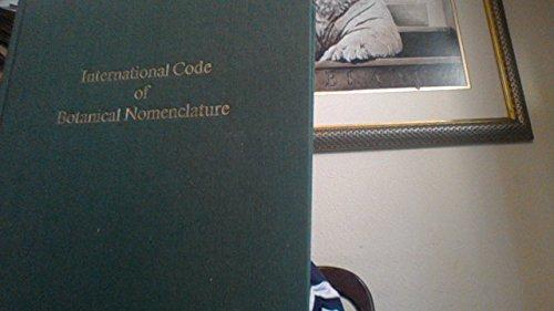 International Code of Botanical Nomenclature (Regnum Vegetabile, V. 111)