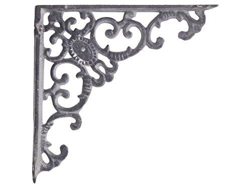 Regalträger - Wandkonsole Monogramm antik grau aus Gusseisen