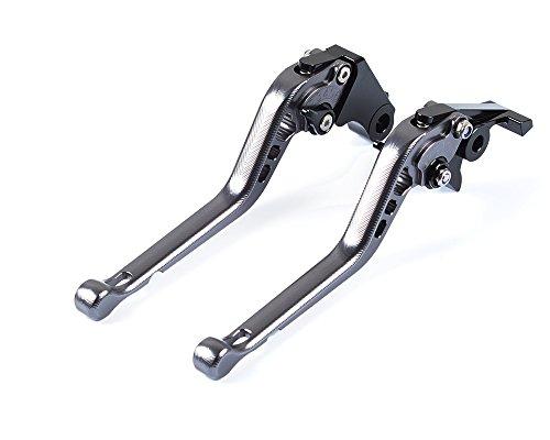 Tencasi Titane CNC 3D Longue Reglable Leviers de Frein d'embrayage pour Ducati Diavel/Carbon/XDiavel/S 2011-2018, Streetfighter 848 2012-2015, Monster 1200 2014