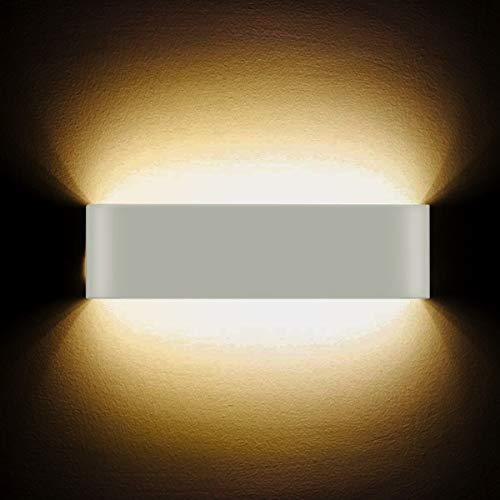 Applique da parete a led 12w lampada da parete per interni ad alta luminosità moderna lampada da parete a sbalzo lampade per hallway hotel luci, luce bianca calda