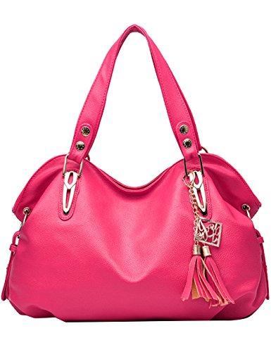 Menschwear Damen Handtasche Marken Handtaschen Elegant Taschen Shopper Reissverschluss Frauen Handtaschen Rose Rose