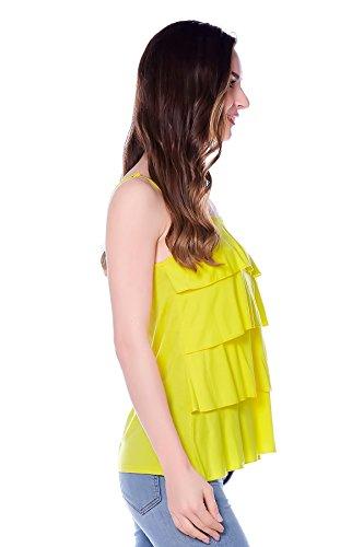 Bearsland femmes maternité Cami Débardeur d'allaitement et chemises Jaune - Jaune