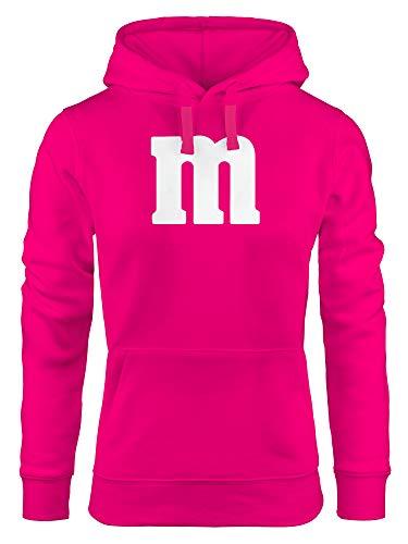 MoonWorks® Hoodie Damen Gruppen-Kostüm M Aufdruck Kostüm Fasching Karneval Verkleidung Kapuzen-Pullover pink XS - Für Immer Hoody Sweatshirt
