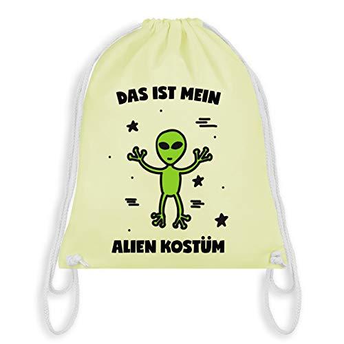(Karneval & Fasching - Das ist mein Alien Kostüm - Unisize - Pastell Gelb - WM110 - Turnbeutel & Gym Bag)
