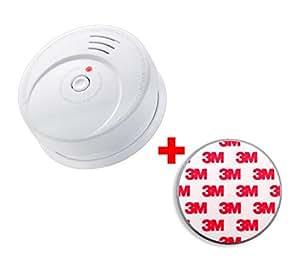 GS506 G Rauchmelder/ Brandmelder/ 10 Jahres Lithium Batterie KRIWAN zertifiziert EN14604 inkl. Magnetbefestigung Magnetopad, (1x Rauchmelder + 1x Magnetopad)