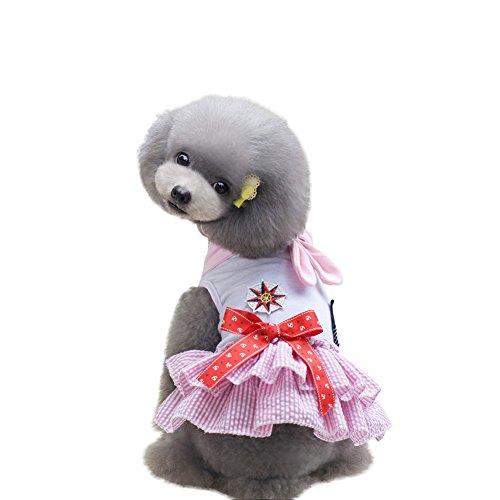 PanDaDa Frühlings Sommer Haustier Hundewelpen Katzen Klassiker Seemann Rock Nettes Bowknot Prinzessin Kleid