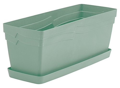 Self-watering Window Box (Whitefurze gswt49ge Boston Übertopf-Salbei Grün)