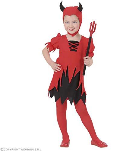 Widmann-WDM2010D Kostüm für Mädchen, Rot Schwarz, WDM2010D