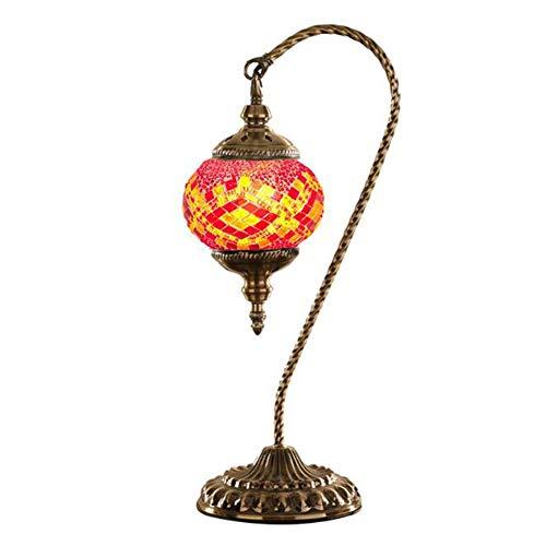 Schwanenhals Klassischer Vintage Led Nachtlicht Türkische Glaslampe Mit Zinklegierung Besser Für Die Inneneinrichtung