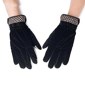 Unbekannt XIAOYAN Handschuhe Motorrad Reithandschuhe Rutschfeste atmungsaktiv solide Winter schwarz braun grau in 3 Farben Bequem