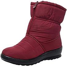 Botas de Nieve Botines Mujer, LANSKIRT Mujer Invierno Impermeable Short Botas de Nieve Calzado Caliente