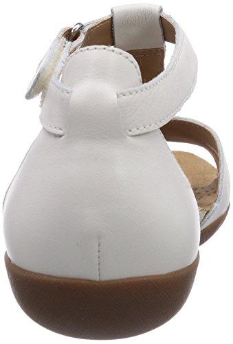 Clarks Raffi Scent Damen Knöchelriemchen Sandalen Weiß (White Leather)