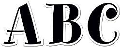 Creative Teaching Press 2-Inch Uppercase Letter Stickers, Black Spumoni (4194)