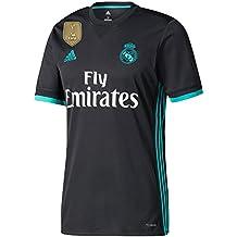Real Madrid Away camiseta 20172018incl libre Club Copa del Mundo parche, hombre, negro