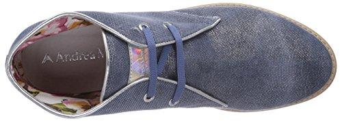Andrea Morelli Desert Boot, Bottes Desert courtes, doublure froide femme Bleu - Blau (TESS.LAM.DENIM)