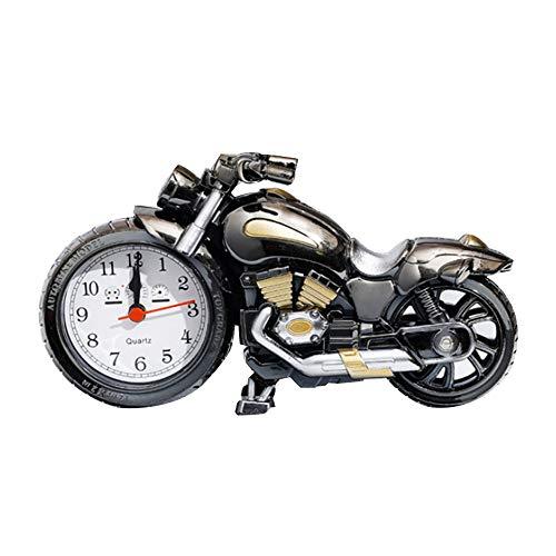 YUHT Motorrad wecker, für Home Office bücherregal Dekorationen Student Erwachsene Mode persönlichkeit kreative wecker Student Nacht Uhr Familie wecker (ohne Batterie) -
