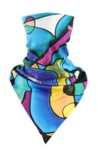 Echarpe d'équitation Echarpe triangulaire magique Accessoires de vélo Masque Art Rayon Bleu mixte