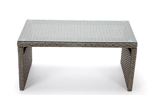 Rattan4Life Sitzgruppe Neapel, 4-teilig Deluxe Polyrattan Gartenmöbel Set, Sofa / Lounge / Gartengarnitur / Kissenbezüge, Rattan grau / braun, Bezug beige - 6