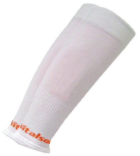 vitalsox Tri Vital Silver drystat Abgestufte Kompression Durchblutung Calf Sleeves vt2011t, Herren, weiß, S (Basketball Vt)