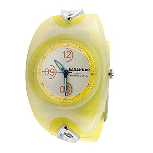Lemon DealMux Yellow plastic Sport-reloj de esfera redonda de la cinta