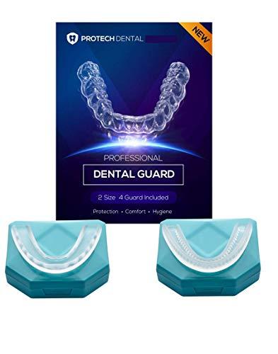 4 Stk Professional Aufbissschiene inkl. 1 Aufbewahrungsbox BPA frei Zahnschutz beim nächtlichen Zähneknirschen Knirscherschiene Zahnschiene 100% ige Zufriedenheitsgarantie