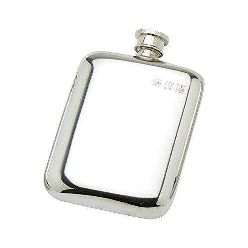Edwin Blyde & Co Spirit Thermoflasche-Taschenformat mit Griffflächen und weichen Ecken Form, 118 ml, Zinn -