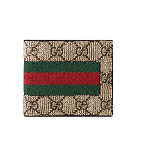 19d0918e3e Gucci GG Web Supreme Signature Stripe Pattern Billfold Wallet Made in Italy