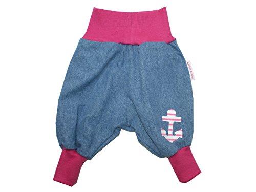 """Baby Jeanshose """"Anker"""" pink Gr. 62 - 104 von Kleine Könige Größe 98/104, Farbe weiß"""