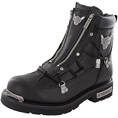 Harley Davidson Biker Boots D91680 luz de freno Engineerstiefel schwarz / negro