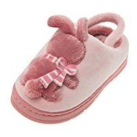 Ansenesna Casual Toddler Infant Kids Baby Cartoon Rabbit Warm Non-Slip Floor Home Slippers Shoes Child(4UK-13UK)