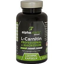 L-Carnitin Carnipure® Professional + Magnesium-Citrat - 2400mg Carnipure® - extrem hochdosiert + rein - 120 Kapseln - Definitionsphase - Muskelfunktion - vegan