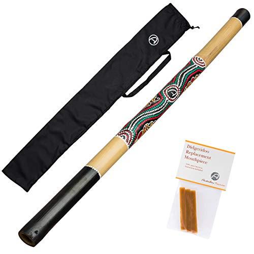Australian Treasures - Didgeridoo Natural + Bienenwachs + didgeridootasche
