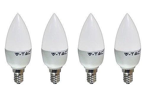 Kit 4 lampadine led v tac 6 watt luce bianco calda attacco for Lampadine watt