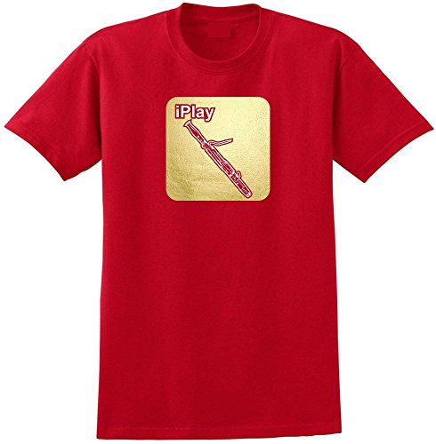 MusicaliTee Bassoon I Play - Red Rot T Shirt Größe 87cm 36in Small
