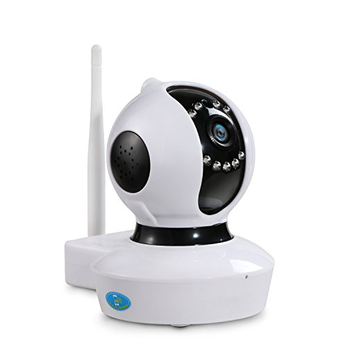NEXGADGET IP Cámara HD WiFi de Vigilancia Seguridad Interior Detección Movimiento Visión Nocturna Visualización Remota Alarma Grabación de Vídeo P2P Pan Tilt Compatible con iOS y Android