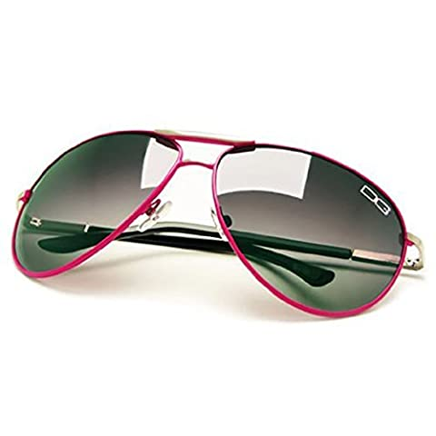 DG Eyewear ® Men's Designer Sunglasses - Full UV400 Protection - Women Fashion Aviator Sunglasses - Model : DG Miami Beach (New Season Ladies Collection) With FREE Pouch