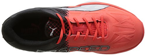 Puma Evospeed Indoor 1.5, Chaussures de Fitness Mixte Adulte Rouge (Red Blast/White/Black)