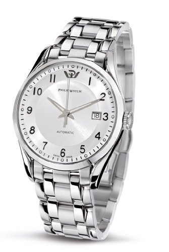 Philip Men's Sunray Analogue Watch R8223180045 with Mechanical Movement, Silver Dial and Stainless Steel Case