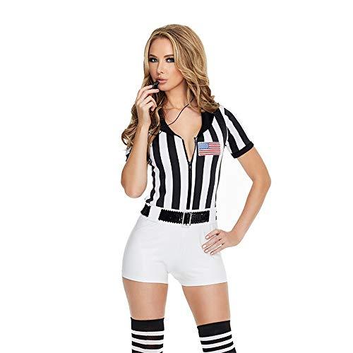 MCO%SISTSR Cheerleader-Kostüm,Mädchen Cheerleading Uniform Reißverschluss Overall High School Musik Kleidung Sport Leistung,Schwarz,Einheitsgröße