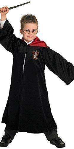 Jungen Mädchen Kinder Deluxe Harry Potter Hermine Grainger Schwarz Zauberermantel Büchertag Halloween Kostüm Kleid Outfit - Schwarz, Schwarz, 5-6 (Hermine Kostüme Halloween)