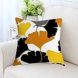 NEEDRA Ananasblatt gelb Kissenbezug Sofa Auto Taille Wurf Kissenbezug Home Decor