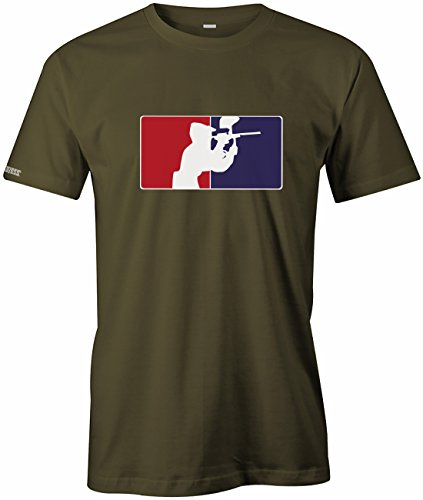 Paintball Logo - Sport Hobby - Herren T-SHIRT in Army by Jayess Gr. XL